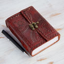 Handcrafted Indra Medium Embossed Leather Journal