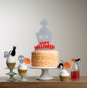 Halloween Table Party Cake Topper Decoration Set - kitchen accessories