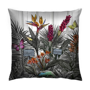 Glasshouse Monochrome Tropical Print Cushion