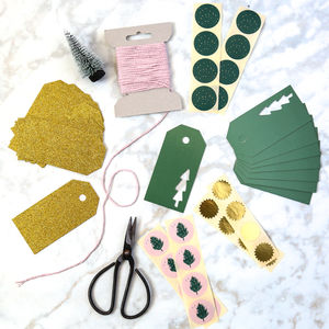 Pink And Green Tonal Wrapping Pack - christmas stickers