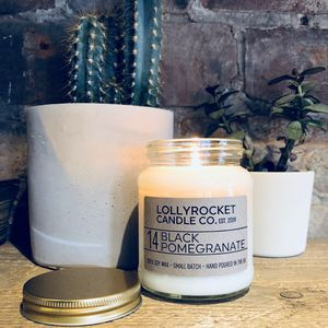 Black Pomegranate Scented Soy Candle - new in home