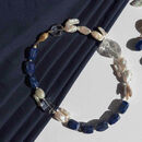 Lapis Lazuli, Quartz And Keishi Pearl Necklace