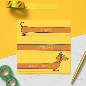'Happy Birthday Party Sausage' Card