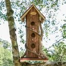 Personalised Woodland Retreat Tall Wooden Bird Hotel
