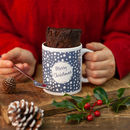 'Christmas Snowballs' Personalised Mug Cake Gift Set