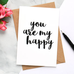 'You Are My Happy' Card - original valentine's cards