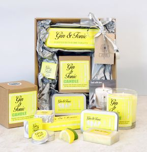 Large Gin Themed Pamper Hamper - bath & body