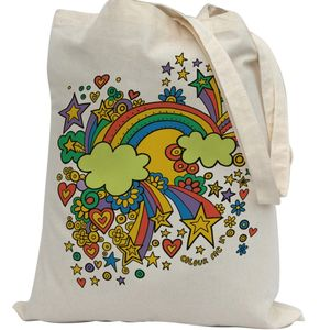 Colour In Rainbow Tote Bag