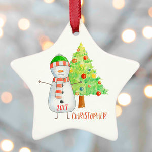 Personalised Christmas Decoration Snowman