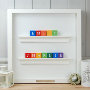 Personalised Double Name Alphabet Block Frame