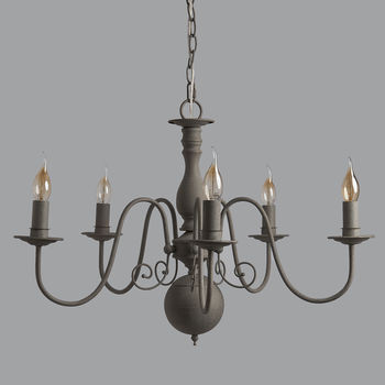Audrey Antique Grey Chandelier