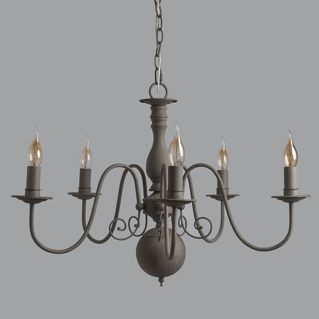Audrey antique grey chandelier by horsfall wright audrey antique grey chandelier aloadofball Image collections