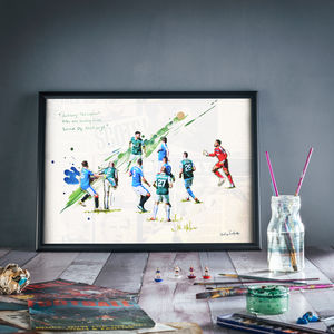 At Last : Hibernian Print - summer sale