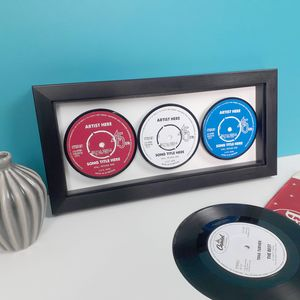Personalised Three Favourite Songs Framed