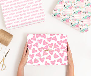 Personalised Heart Mothers Day Wrapping Paper - what's new