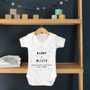 Personalised Baby And Me, Babygrow Or T Shirt