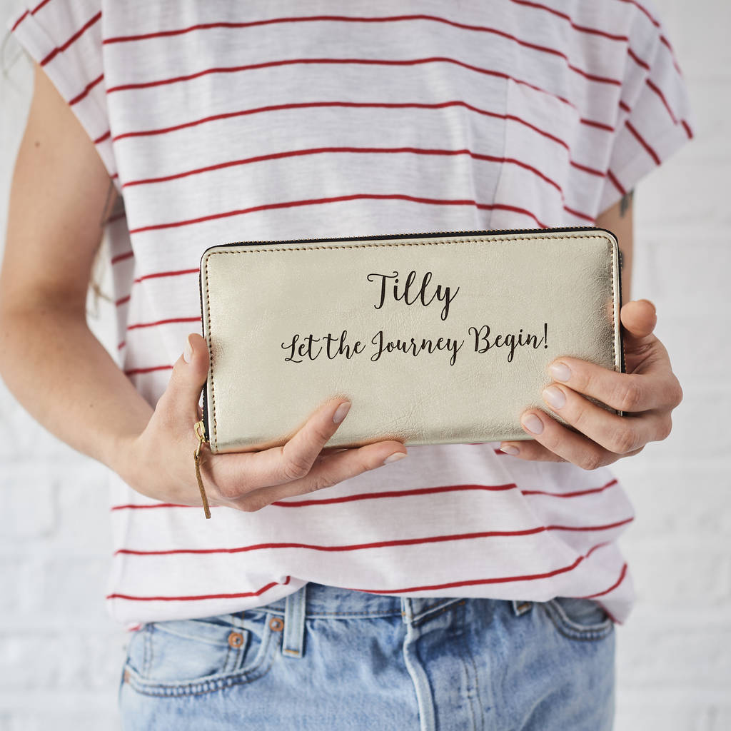 Personalised Leather Purse Clutch