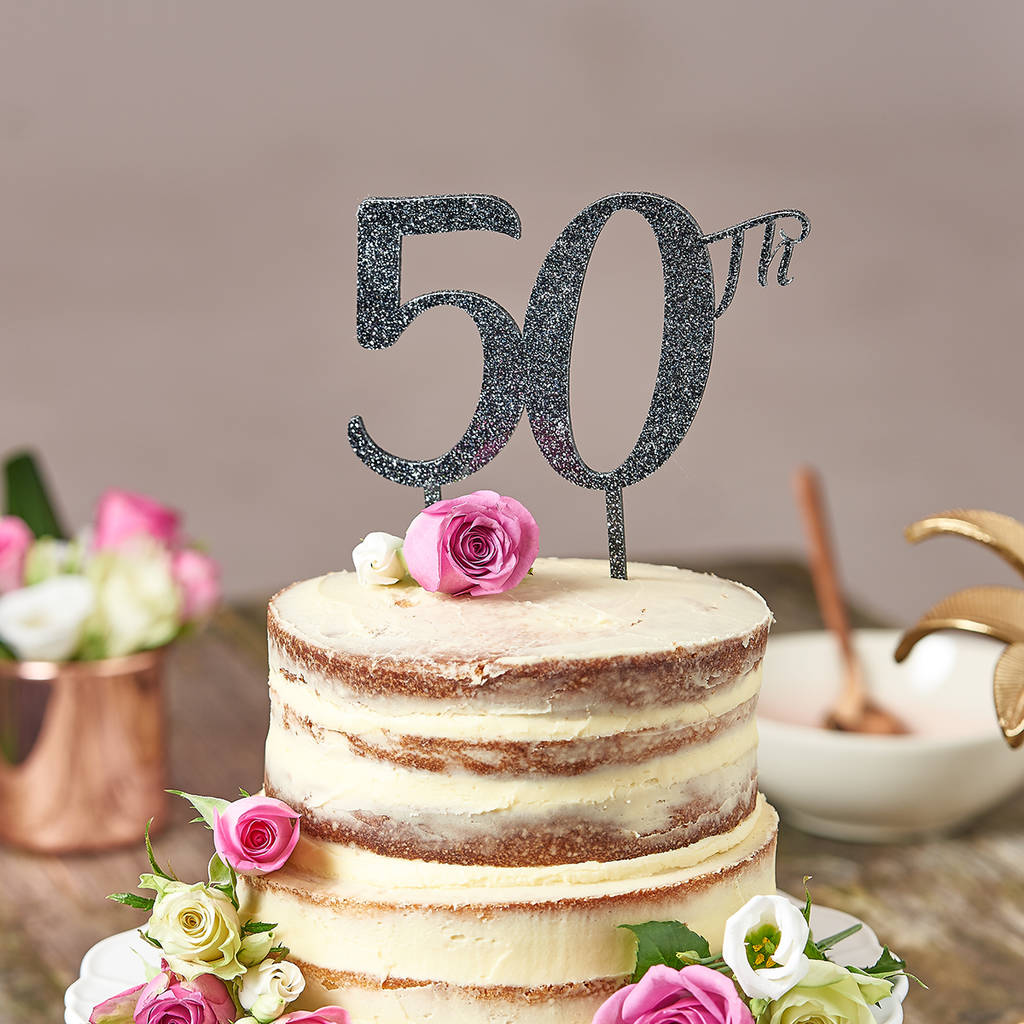 Cake Topper For 50th Birthday By Suzy Q Designs Notonthehighstreet