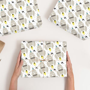 Personalised Rocket Wrapping Paper