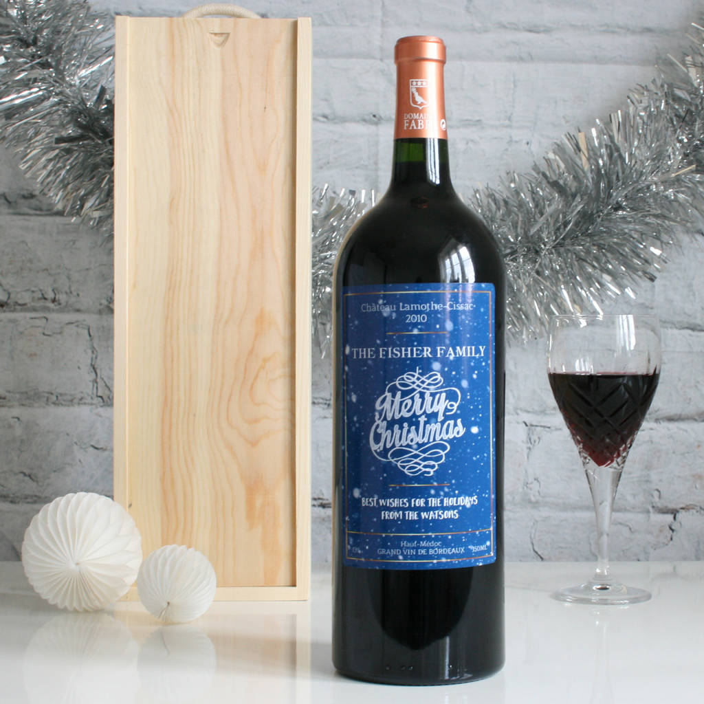 Personalised Christmas Magnum Of Wine