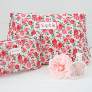 Personalised Wash Bag And Jewellery Pouch Gift Set