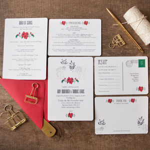 Wintry Reindeer Wedding Stationery - personalised