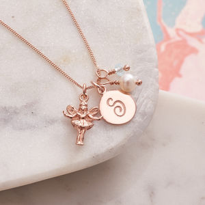 Rose Gold Fairy Godmother Personalised Necklace - godmother gifts