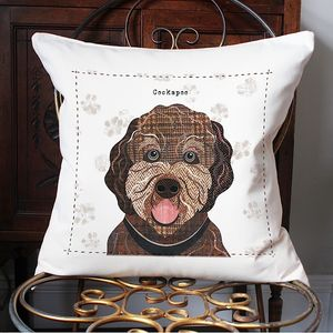 Cockapoo Personalised Dog Cushion Cover - cushions