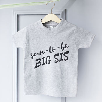 Big Sis Baby Announcement T Shirt
