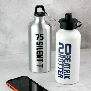 Personalised Sports Name And Number Water Bottle