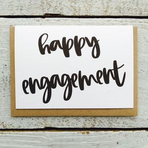 'Happy Engagement' Card - engagement cards