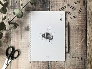 Grey Bee Notebook