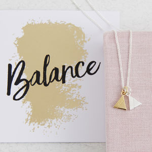 Triangle Charm Necklace - lucky charm jewellery