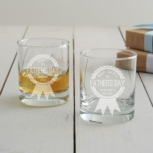 Personalised First Father's Day Tumbler Glass - dining room