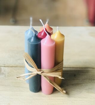 Personalised Colourful Rainbow Dinner Candles