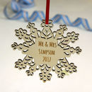 Mr And Mrs Snowflake Christmas Decoration