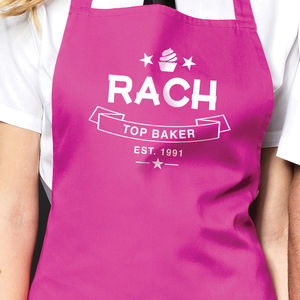 Personalised 'Top Baker' Apron - kitchen
