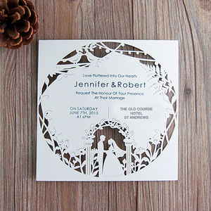 Bride And Groom Laser Cut Invites - invitations