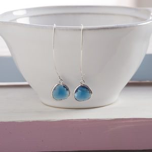Faceted Glass Raindrop Earrings - retirement gifts