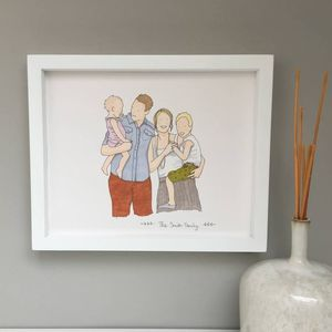 Personalised Family Portrait Illustration - what's new