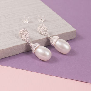 Acorn Pearl Earrings