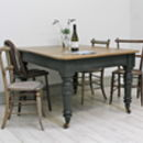 Distressed Antique Six Person Dining Table