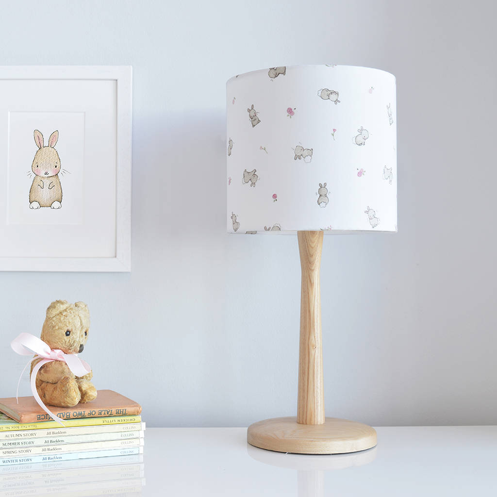 Roses and rabbits nursery lampshade by daisy bump nursery art roses and rabbits nursery lampshade aloadofball