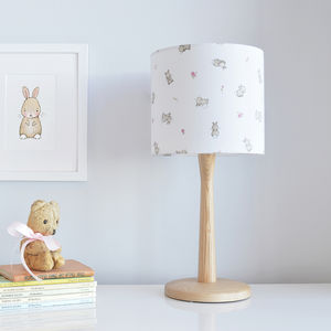 Roses And Rabbits Nursery Lampshade - lampshades