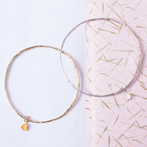 Tiny Bud Bangle - new in wedding styling