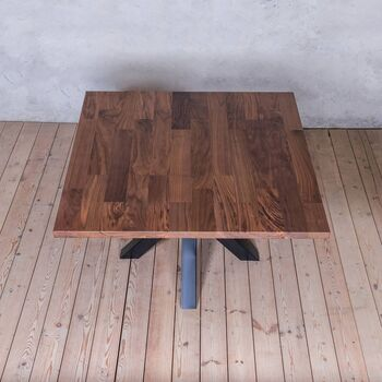 Squere Walnut Table With Spider Legs