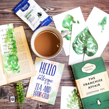 Vintage Book, Tea And Stationery Subscription Gift