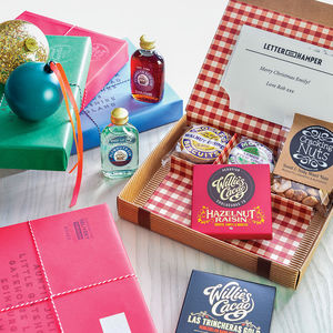 Personalised Letter Box Hamper For Gin Lovers - festive favourites