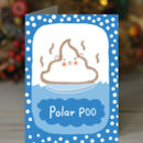 'Polar POO' Christmas Card