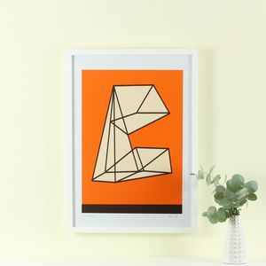 'Future Following' Screen Print Mid Century Modern Art - posters & prints